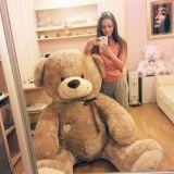 Медведь 180 см кофейный в подарок
