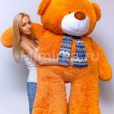 Плюшевый медведь  карамельного цвета 170 см