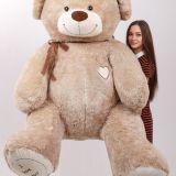 Мишка Томас 220 см кофейный с девушкой