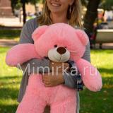 Розовый плюшевый медведь 70 см