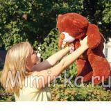 Плюшевый медведь 70 см тёмный