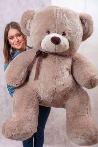 Кофейный плюшевый медведь Томас 150 см