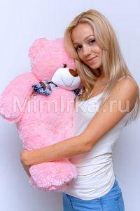 Розовый плюшевый мишка 70 см