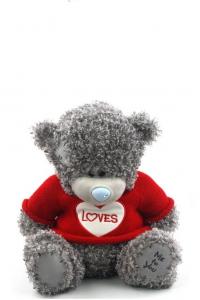 Плюшевый мишка Тедди 25 см серый